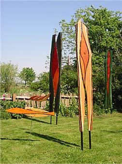 kunst aus holz im garten – msglocal, Gartengestaltung